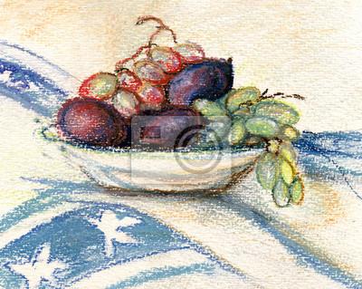 Obraz Talerz z owocami