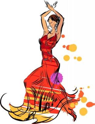 Obraz Tancerka flamenco