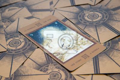 Obraz Tarot Karty Gwiazda Labirynt Tarota Pokladu Ezoteryczne Tlo