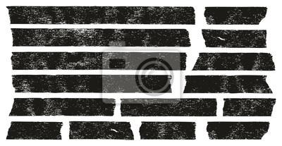 Obraz Taśma maskująca Black Grunge Set 01
