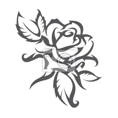 Obraz Róże Tatuaż Na Wymiar święto Dekoracje Kwiat