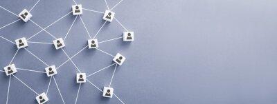 Obraz Teamwork, network and community concept.