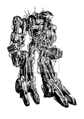 Tech przyszłość robot cyborg mechanik