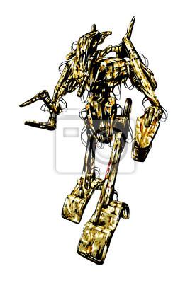 Obraz Tech przyszłość robot cyborg mechanik