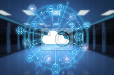 Obraz technologia przetwarzania w chmurze