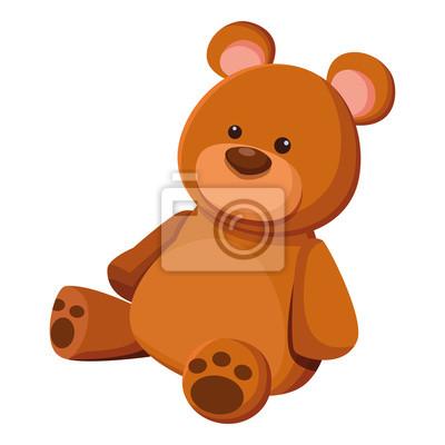 Obraz teddy bear toy icon cartoon