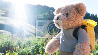 Obraz teddy bear turystyka