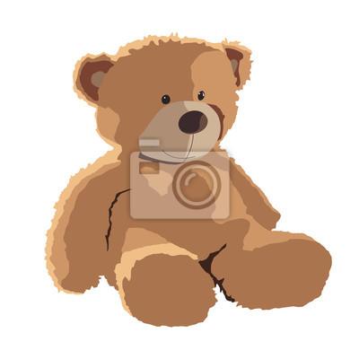 Obraz teddy bear vector illustration isolated