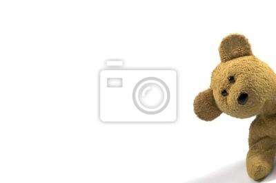 Obraz teddy zerkając