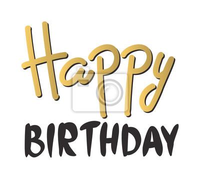 Tekst życzenia Urodzinowe Ręcznie Liternictwo Ręcznie Kaligrafii Obrazy Redro