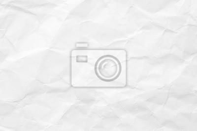 Obraz Tekstura białego papieru jest zmięty. Tło dla różnych celów.