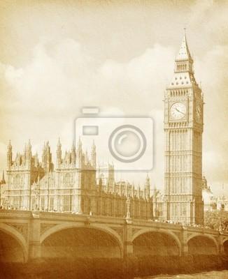 tekstury papieru . Budynki Parlamentu w Londynie UK