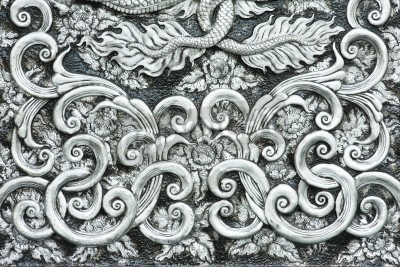 Obraz tekstury srebra metalowej płytki