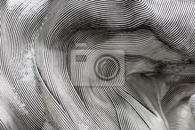 Obraz Tekstury tła lśniącej powierzchni metalu. Zakrzywiona płyta jest wykonana z żeliwa.