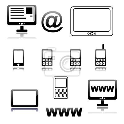 Telefon komórkowy, komputer ikona