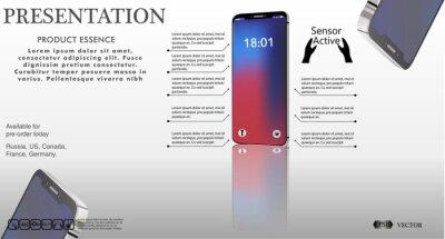 Telefon komórkowy z nowoczesnym szablonu projektu, ilustracji wektorowych Użyj do prezentacji szablonu lub Banner lub do druku, sieci, aplikacji. Gadżety elektroniczne. nowy interfejs projektowy