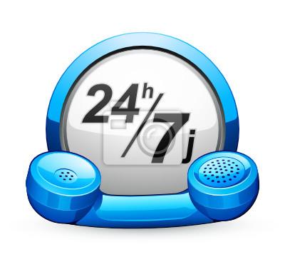 Telefon kontaktowy 24/7 przycisków