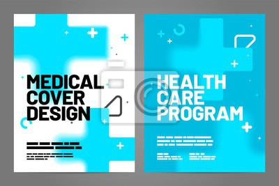Template design with abstract background for medical layout. Vector design A4 size for poster, flyer or cover.