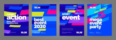 Obraz Template design with dynamic shapes for sport event, invitation or championship. Sport background.