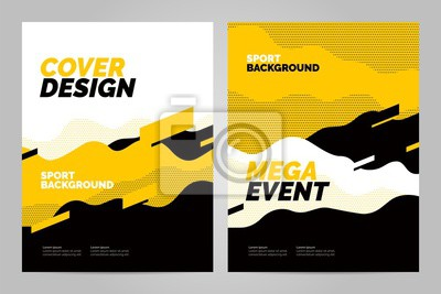 Obraz Template design with dynamic waves and lines for sport event, tournament or championship. Sport background.
