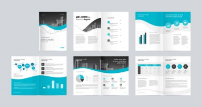 Obraz template layout design with cover page for company profile ,annual report , brochures, flyers, presentations, leaflet, magazine,book . and vector a4 size for editable.
