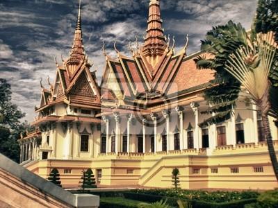 Temple w pobliżu Phnom Penh w Kambodży