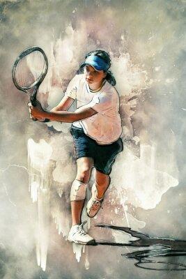 Obraz tenisista