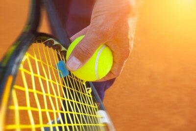Obraz .tennis piłki na korcie tenisowym