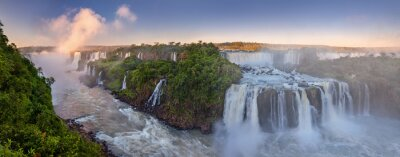 Obraz The amazing Iguazu falls, summer landscape with scenic waterfalls