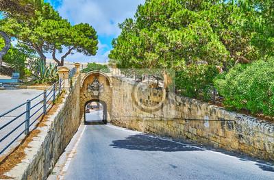 The ancient Gharreqin Gate, Mdina, Malta
