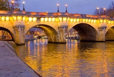 Obraz The beautiful Pont Neuf (Neuf Bridge) of Paris at dawn