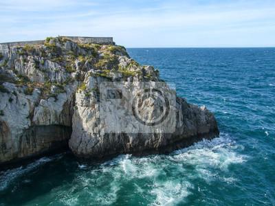 The Cantabrian Sea crashes into the rocks of the coast