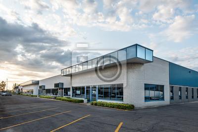 Obraz The exterior facade of a generic small business