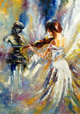 Obraz The girl playing a violin