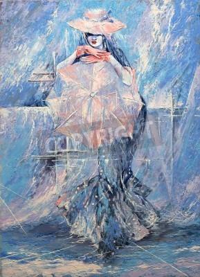 Obraz The girl with an umbrella