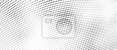 Obraz The halftone texture is monochrome. Vector chaotic background