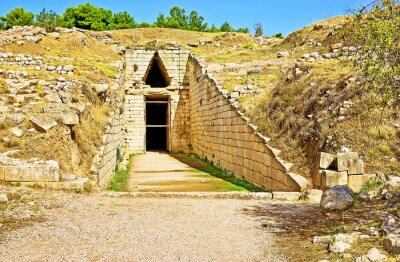 The old tomb  of Mycenae, Greece.