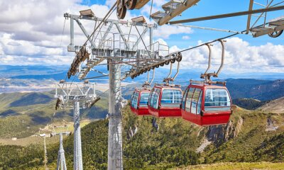 The Shika Snow Mountain cable car, Blue Moon Valley, China.