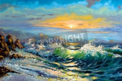 Obraz The storm sea on a decline