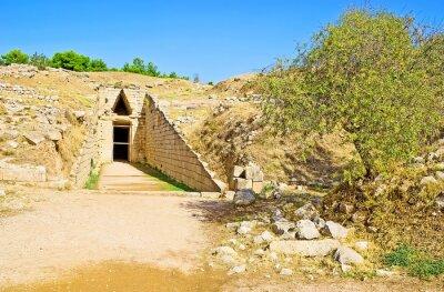 The Tomb of Clytemnestra, Mycenae, Greece.