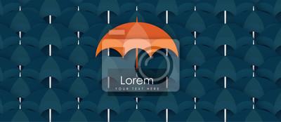 Think Different Umbrella show leadership concept