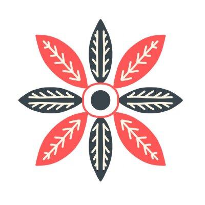 Obraz Tile Scandi Scandinavian ornament leaf winter plant