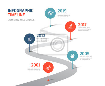 Obraz Timeline Infographics - Company Milestones