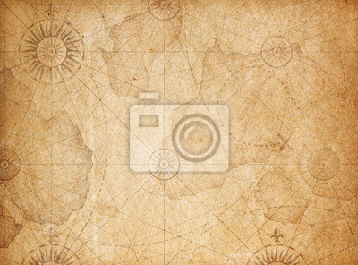 Obraz Tło mapy skarbów