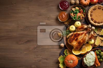 Obraz Tło obiad Dziękczynienia