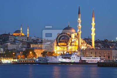 Obraz Tło podróży Turcja - Stambuł Sunset Panorama -