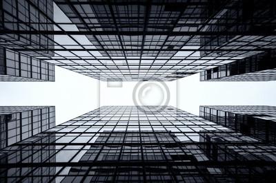 Obraz Tło Skyscraper Szkło, Hong Kong