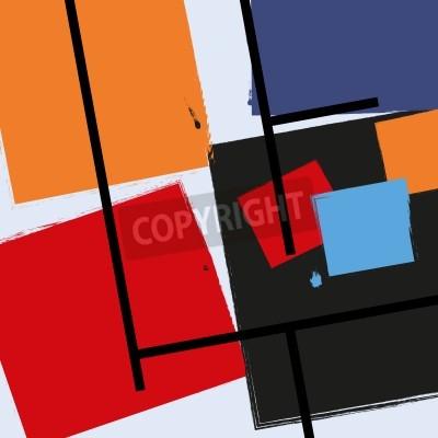 Obraz tło wektor tło geometryczne wzory w stylu retro zabytkowe grafiki, geometria Kubizm