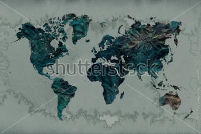 Obraz tło wzór mapy świata