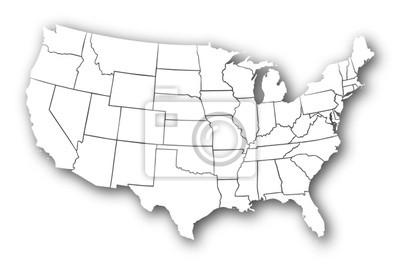 Obraz Tłoczone USA Map